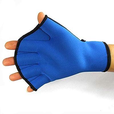 Haoyushangmao 1 Pair Water Swim Gloves Aerobics Aqua Jogger Swimming Hand Webbed Swim Surfing Diving Webbed Neoprene Paddle Gloves (Color : Blue Big): Home & Kitchen