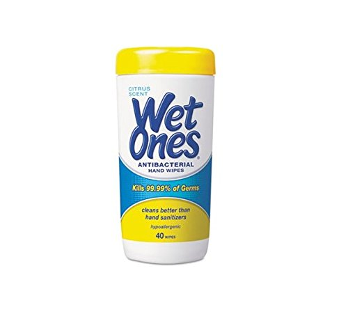 (Wet Ones Moist Towelette, Antibacterial, Citrus, Canister, 40 Count)