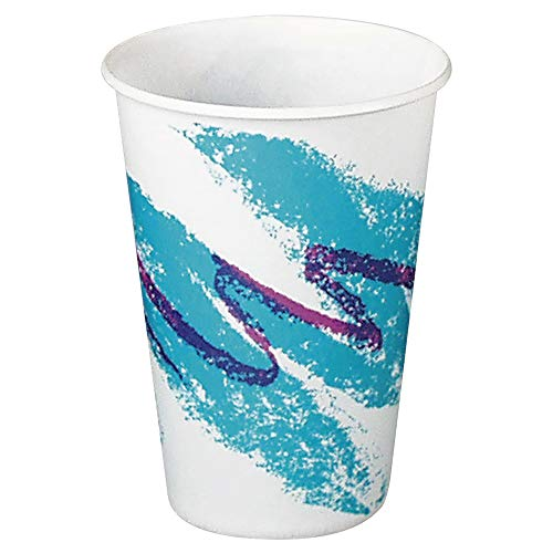 Solo R10NN-00055 10 oz Jazz Waxed Paper Cold Cup (Case of 2000) - Jazz Squat Cup