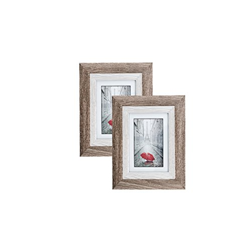 Distressed Brown MDF Wood Picture Frame 5x7  Display with Ph