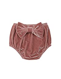 Oasiss Unisex Infant Baby Girls Velvet Bloomers Diaper Cover,Solid Bow-Knot Elastic Waist Shorts Briefs Bottoms