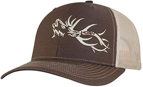 - Trucker Hat - Hunters Series Cap - Elk Edition Hats (Brown/Khaki)