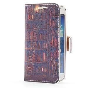 GX Caso de cuero del estante de libro de estilo con ranura para tarjetas y soporte para Samsung Galaxy S4 Mini i9190