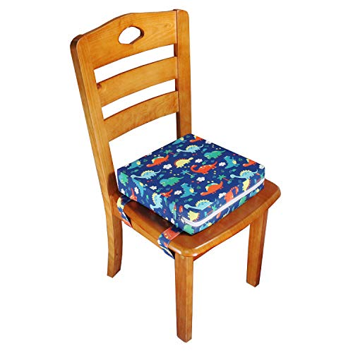 simpletome Chair Booster Seat Cushion Pad for Big Kids with 4 Safety Fixing Straps (Owl)