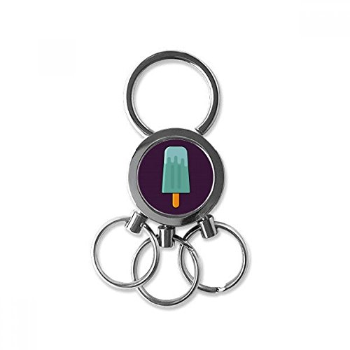 Blue Green Popsicle Sweet Ice Cream Stainless Steel Metal Key Chain Ring Car Keychain Keyring Clip Gift for cheap