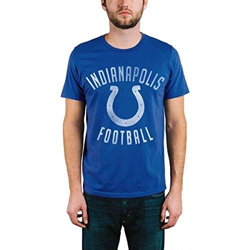 Junk Food NFL Indianapolis Colts Men's Kick Off Crew Short Sleeve Tee, Large, Liberty