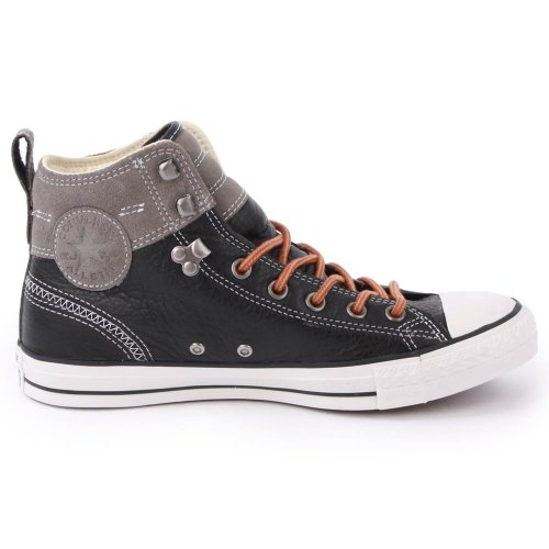 Converse Chuck Taylor Hiker 139822C Mens Laced Leather & Suede Trainers Black - 8