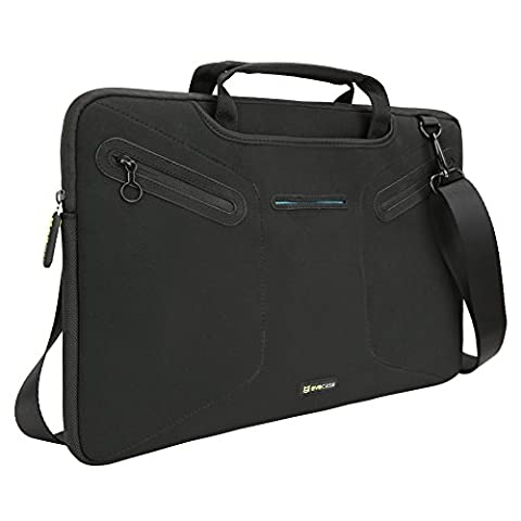 Evecase Multi-functional Carrying Messenger Case with Handle and Shoulder Strap for 12.5 - 13.3 inch Laptops - - Leapfrog Car Adapter
