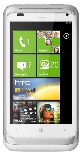 HTC Radar C110E Unlocked GSM Phone - White/Silver (Phone Gsm Htc Windows Unlocked)