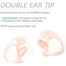 On Set Headsets: Acoustic Coil Tube Earpiece Made with Medical Grade Silica. Hypoallergenic Silicone Soft Earbud Insert for Surveillance Headset (Ear Tips (Pair): Small – Pink Only)