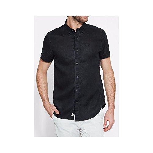 Timberland SS Linen Shirt BLACK, MAN , Size: S