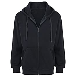 Men's Fleece Hoodies Jackets Sports Full Zip Sweatshirts