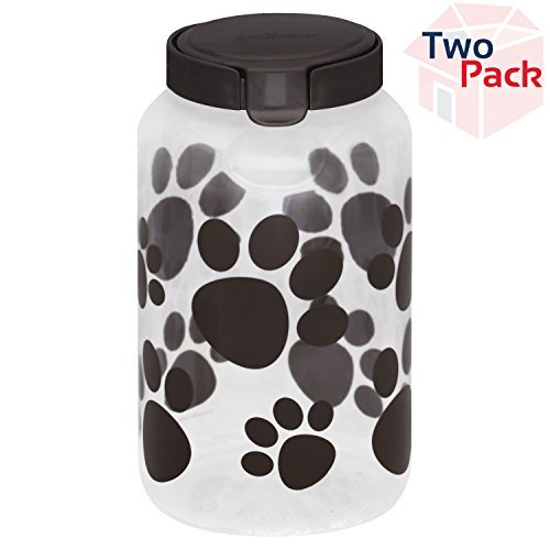 Snapware Airtight Food Storage Pet Treat Canister, Large, Pack of 2 by Snapware