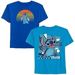 Disney Boys' Big 2 Pack of Stitch Graphic T-Shirts