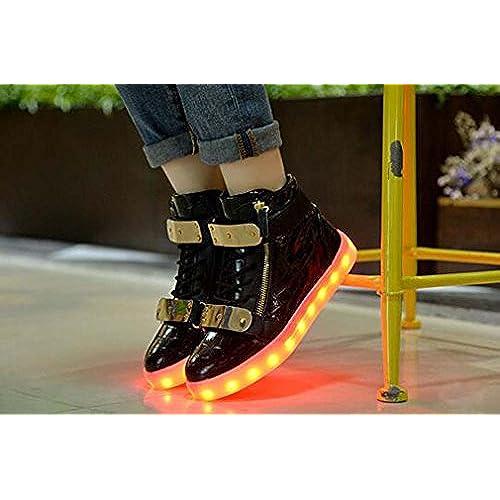 on sale Littlepanda Women Men High Top USB Charging LED