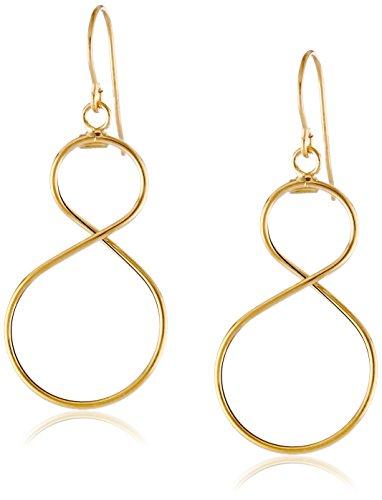 14k Yellow Gold Italian Figure Eight Infinity Earrings
