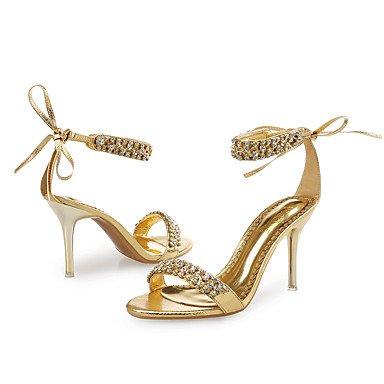 Cuero para eu36 Stiletto Dorado del Zapatos Mujer para us6 El Fiesta Purpurina cn36 Pedrería Tacón madre y mejor Sandalias Zapatos de mujer Noche Satén Boda Vestido Flor uk4 club regalo y FRwfw8qZ