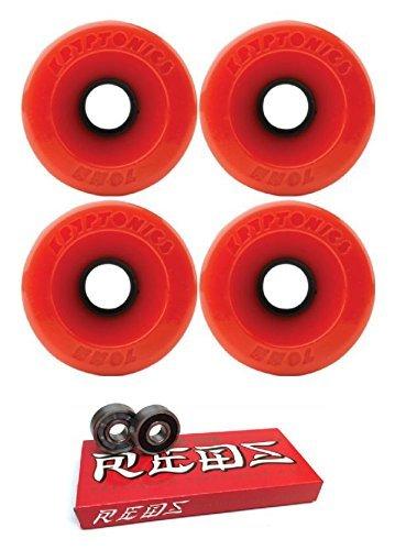 追い付くロッド偽70 mm Kryptonics Wheels Star Trac Wheels with Bones Bearings – 8 mm Bones Super Redsスケート定格ベアリング – 2アイテムのバンドル