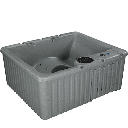 Essential Hot Tubs - Newport - 14 Jets, Lounger Rotationally Molded, Grey Granite by Essential Hot Tubs