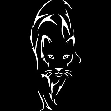 TRUCKS CARS MOTORCYCLE 2 6 inch EACH PANTHER HEAD CHROME Vinyl Decals