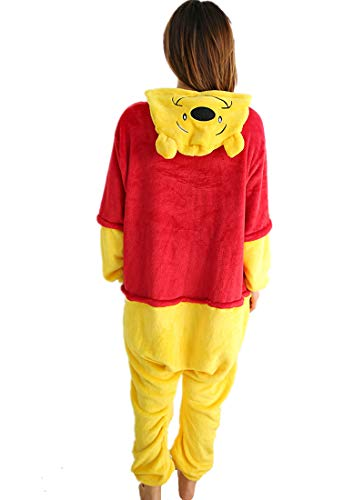 kxry Adult Unisex Winnie Cosplay Costume Pooh Pajamas Onesie (Small)]()