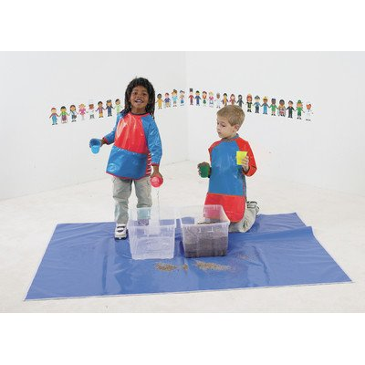 Children's Factory Rectangular Mess and Play Splash Mat - 50 x 72
