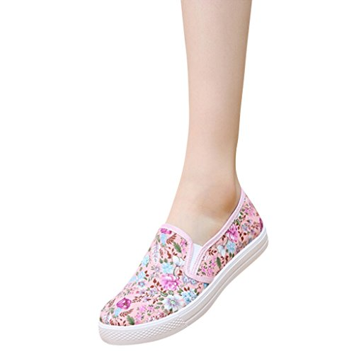 Hee Grand Girls Bloemenprint Op Casual Loafer Flats Roze