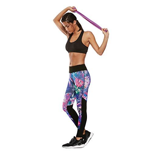 BELLEZIVA--Pantalón Deportivo de Mujer (Impreso floral, Delgado, Apretado, Yoga, Fitness, Corriendo, Formación) Multicolor