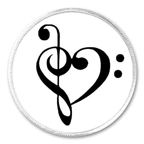 (Treble Bass Clef Heart - 3