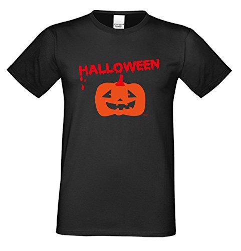 T-Shirt - Blutiges Halloween Kürbis - gruseliges Motiv Shirt für Leute mit Humor