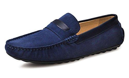 Crc Mens Moda Casual Comfort Slip On In Pelle Scamosciata Di Alta Qualità A Piedi Scarpe Da Barca Guida Blu Scuro