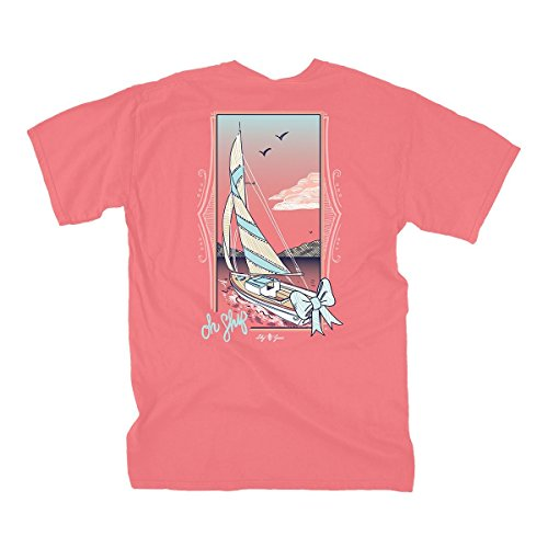 (Lily Grace Oh Ship - Salmon | Women's Topside Cotton T-Shirt)