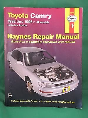 amazon com 1992 1996 haynes repair manual toyota camry avalon rh amazon com 1995 Avalon 1996 toyota avalon repair manual free