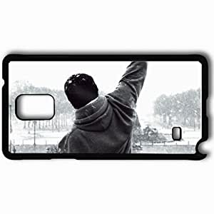 Personalized Samsung Note 4 Cell phone Case/Cover Skin Rocky Balboa Black