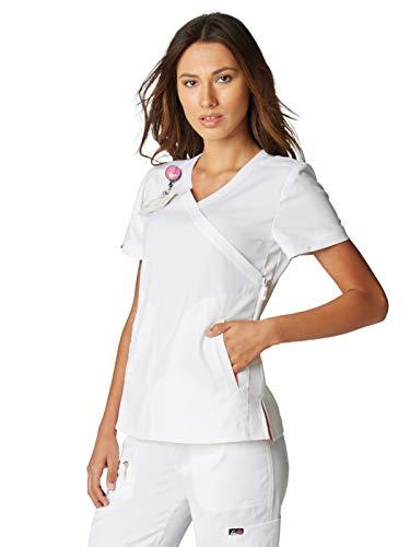 KOI Lite 316 Women's Philosophy Scrub top (White, X-Small)