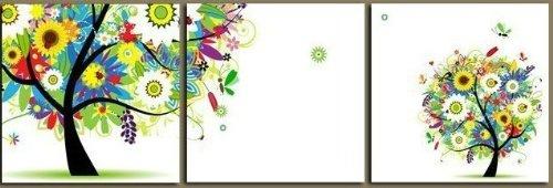クロスステッチ 刺繍キット 3画 大小財樹 (DMC刺繍糸) 図柄印刷 B00IWKU12C