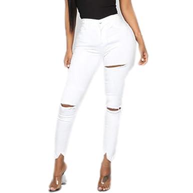 Vectry Moda Mujeres Sexy Skinny Jeans Cintura Media ...