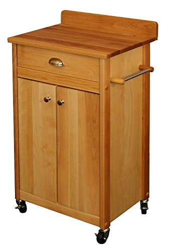 Catskill Craftsmen Kitchen Kitchen Cart - Catskill Craftsmen Butcher Block Cart with Backsplash