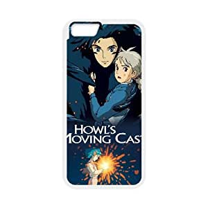 Howl está moviendo alta resolución Castillo cartel iPhone 6 4.7 pulgadas del teléfono celular funda blanca del teléfono celular Funda Cubierta EEECBCAAJ79655