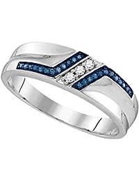 amazon com blue diamond diamond rings jewelry clothing