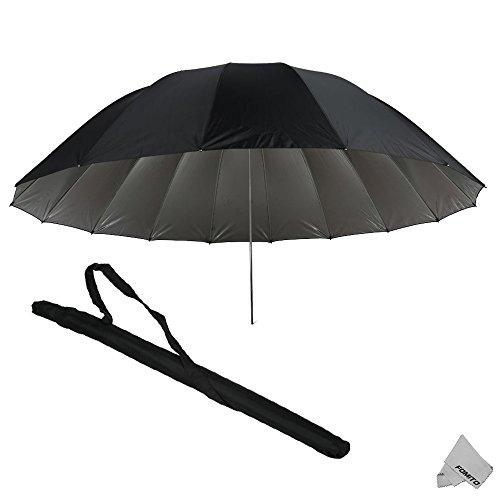Fomito 7 feet Mega Parabolic Flash Reflector Umbrella Silver by Fomito