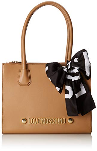 Pu Marrone Borse Soft Borsa Grain Moschino Love Donna Cammello Tote xq8AIn