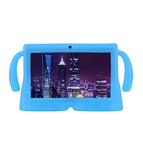 Translucent Blue Silicone Skin Case - YRD TECH 7-inch Universal Flat Silicon Sleeve Gel Protective Back Case Cover Compatible Android Tablet Q88 (Light Blue)