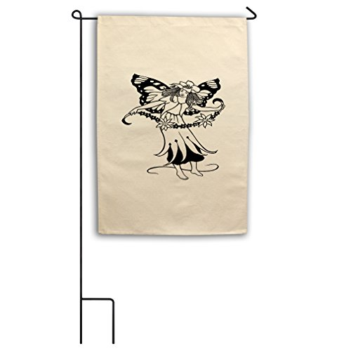 Color-In Fairy Flower Necklace Canvas Yard House Garden Flag