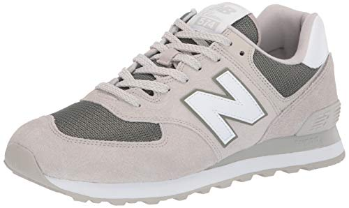 New Balance Men's Iconic 574 Sneaker Light Cliff Grey/Mineral Green 10 D US