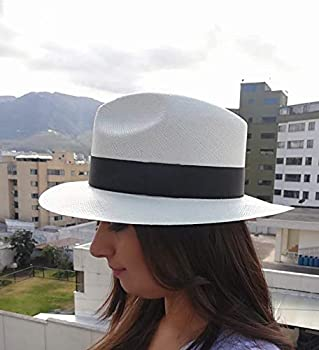 "Manufactured Since 1975. Grade 2 Sombreros Roman Jipijapa The /""True/"" Panama Hat Handwoven in Ecuador Natural or White Color Medium:57-58cm, Natural Fedora Style"