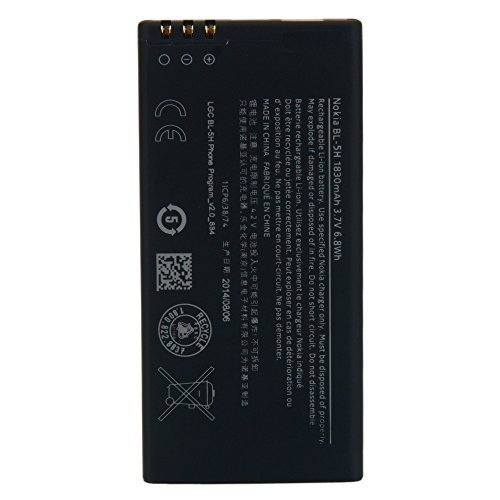 New 1830 mAh Replacement Battery for Nokia Lumia 630 635 636 638 BL-5H (Accessories Battery Nokia Wireless)