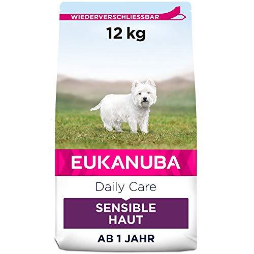 Eukanuba Daily Care Sensitive Skin Hundefutter – Trockenfutter für Hunde mit sensibler Haut, Hyoallergenes Futter mit…