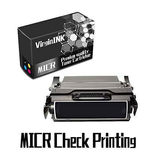 VirginInk T522 Series MICR Check Printing Toner Cartridge Replacement for Lexmark Optra T522, X522 Printers(20,000 Page-Yield, 1 Black)