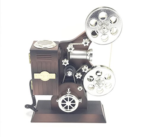 YMANX Brown film projector music box (Best Gift For Filmmaker)